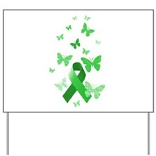 Green Awareness Ribbon Yard Sign