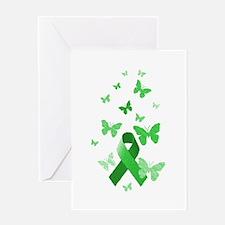 Green Awareness Ribbon Greeting Card