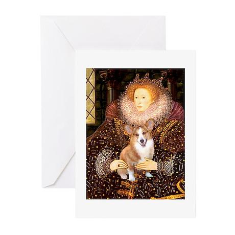 SFP-QUEEN-Corgi-Pem3 Greeting Cards