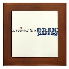 I survived the Drake Passage Framed Tile