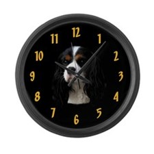 Tricolor Cavalier Clock Gold Large Wall Clock