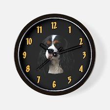 Tricolor Cavalier Spaniel CKCS Black Gold Clock