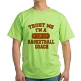 Basketball coach Green T-Shirt