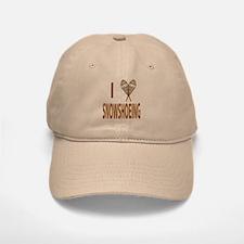 I Love Snowshoeing Baseball Baseball Cap