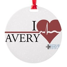 I Heart Avery - Grey's Anatom Round Ornament