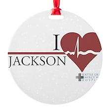 I Heart Jackson - Grey's Anat Round Ornament