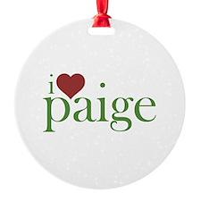 I Heart Paige Ornament