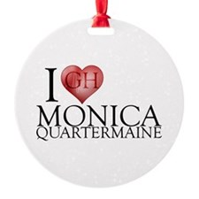 I Heart Monica Quartermaine Round Ornament