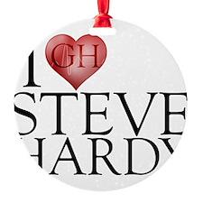 I Heart Steve Hardy Round Ornament