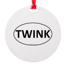 TWINK Euro Oval Ornament