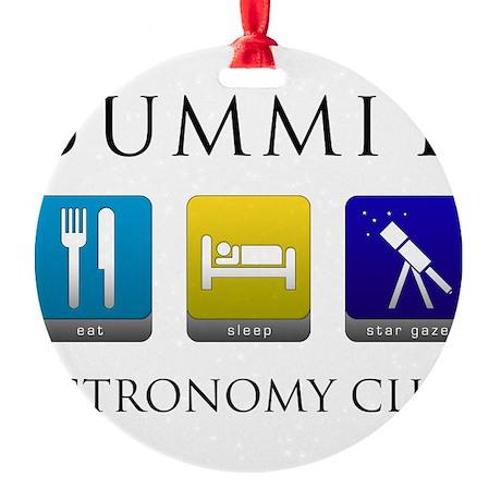 Summit Astronomy Club Round Ornament