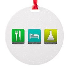 Eat, Sleep, Chemistry Ornament