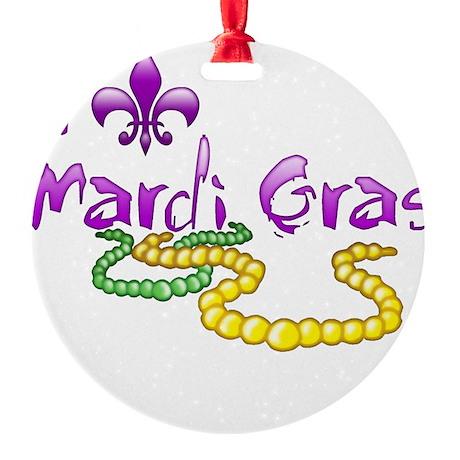 I Fleur-de-Lis Mardi Gras Round Ornament