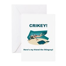Crikey Here's My Friend The Stingray Greeting Card