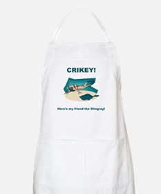 Crikey Here's My Friend The Stingray BBQ Apron