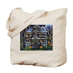 Halloween Haunted House Desig Tote Bag