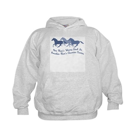 Wrong Lead or Counter Canter Kids Hoodie