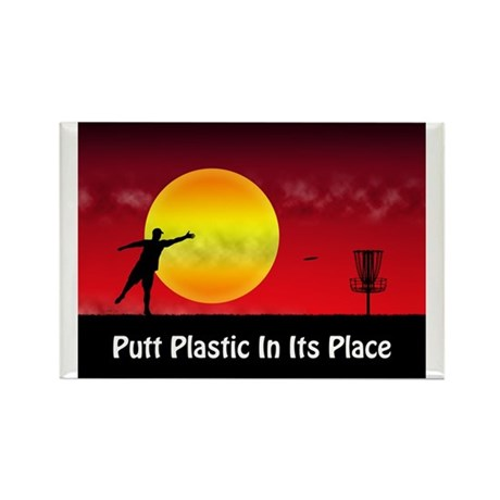 Putt Plastic In Its Place Rectangle Magnet (10 pac
