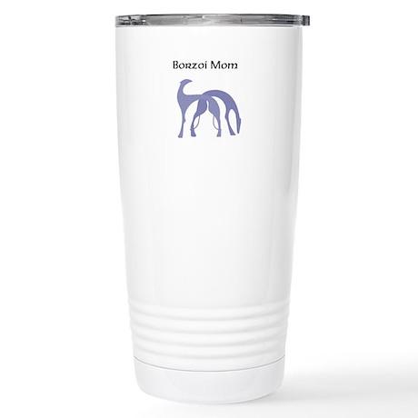 Borzoi Mom Stainless Steel Travel Mug