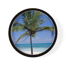 Bahamas Palm Tree Wall Clock