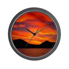 Cabo Sunset Wall Clock