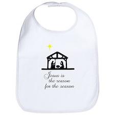 Jesus Is The Reason Nativity Scene Bib