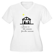 Jesus Is The Reason Nativity Scene T-Shirt