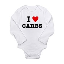 I Love Carbs Funny Diet Long Sleeve Infant Bodysui