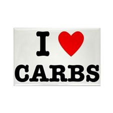 I Love Carbs Funny Diet Rectangle Magnet (10 pack)