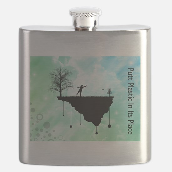 Putt Plastic In Its Place Flask