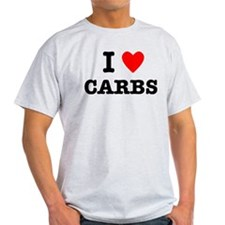 I Love Carbs Funny Diet T-Shirt