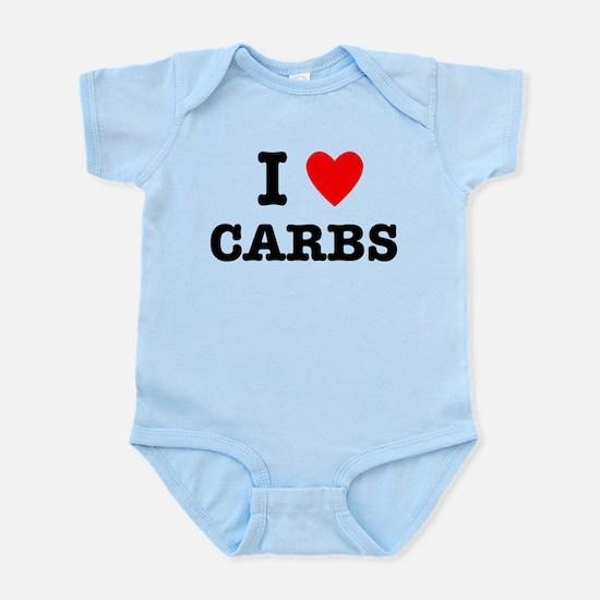 I Love Carbs Funny Diet Infant Bodysuit