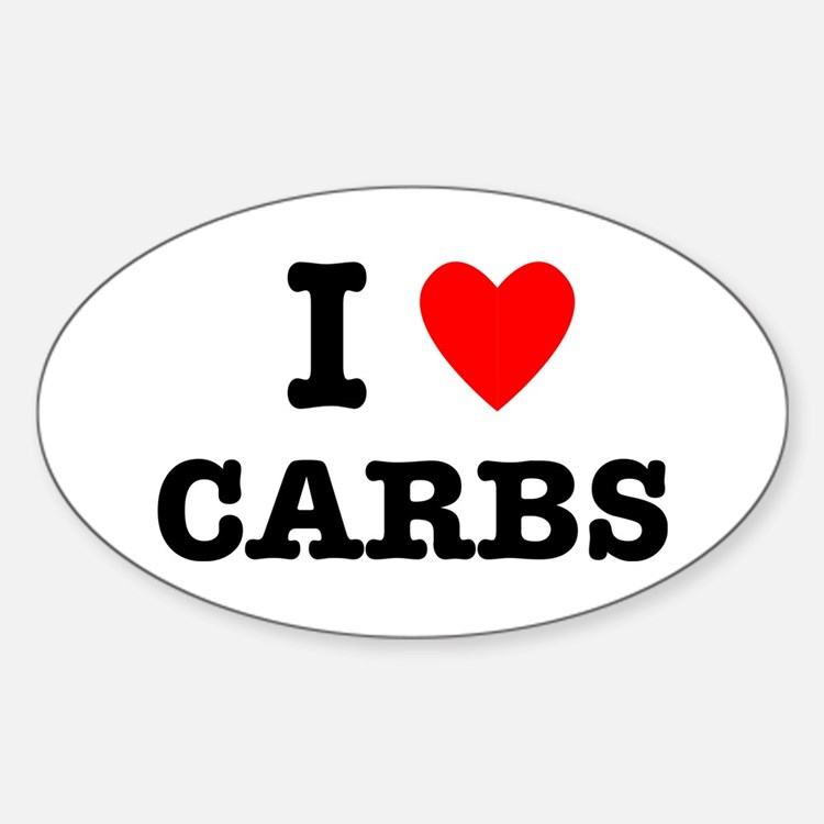 I Love Carbs Funny Diet Decal