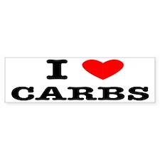 I Love Carbs Funny Diet Bumper Sticker