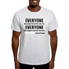 Ronald Reagan Anti-slavery Anti-abortion T-Shirt