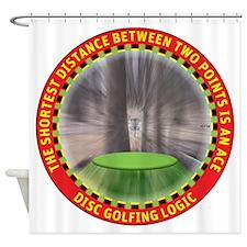 Disc Golf Logic Shower Curtain
