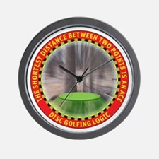 Disc Golf Logic Wall Clock