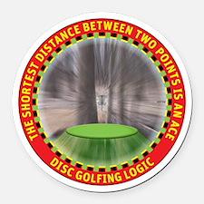 Disc Golf Logic Round Car Magnet