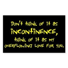 Incontinence Rectangle Decal