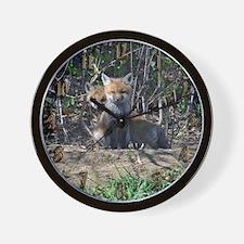 Red Fox kits Wall Clock