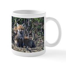 Red Fox kits Small Mug