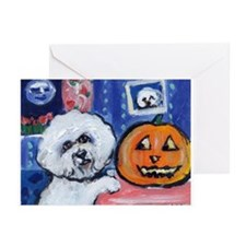 Bichon Pug investigates glowi Greeting Cards (Pack