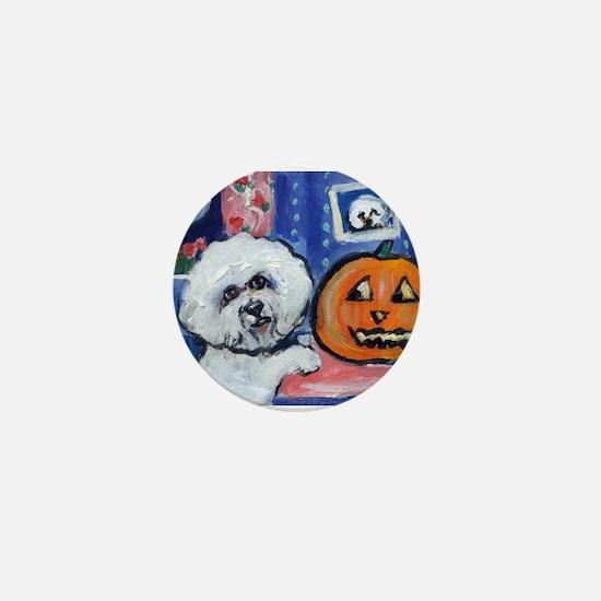 Bichon Pug investigates glowi Mini Button