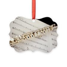 Cute Flute sheet music Ornament