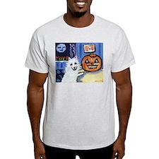 American Eskimo dog investiga Ash Grey T-Shirt