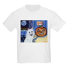 American Eskimo dog investiga Kids T-Shirt