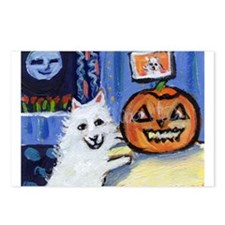 American Eskimo dog investiga Postcards (Package o