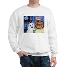 American Eskimo dog investiga Sweatshirt