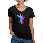 Simply Dance Women's V-Neck Dark T-Shirt