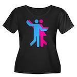 Simply Dance Women's Plus Size Scoop Neck Dark T-S
